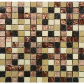 MS International Desert Sunset Mosaic 3/4 in. x 3/4 in. Glass Floor and Wall Tile