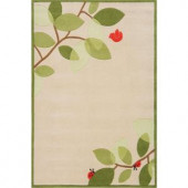 Momeni Caprice Collection Ivory 4 ft. x 6 ft. Area Rug