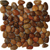 MS International Red Polished Pebbles 12 in. x 12 in. Quartzite Floor & Wall Tile