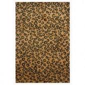 LA Rug Inc. Supreme Leopard Skin Brown and Black 31 in. x 47 in. Area Rug