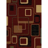 United Weavers Interlude Burgundy 7 ft. 10 in. x 10 ft. 6 in. Area Rug