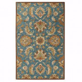 Home Decorators Collection Vogue Teal Blue 9 ft. x 12 ft. Area Rug