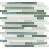MS International Keystone 12 in. x 12 in. White and Gray Interlocking Mesh-Mounted Mosaic Tile