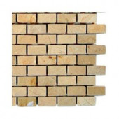 Splashback Tile Crema Marfil Bricks Marble Floor and Wall Tile - 6 in. x 6 in. Tile Sample