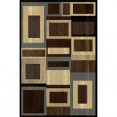 Home Dynamix Bazaar Gal 1196 Black/Brown 7 ft. 10 in. x 10 ft. 1 in. Area Rug