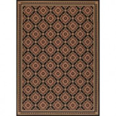 Hampton Bay Red and Black All Over 7 ft. 7 in. x 10 ft. 10 in. Indoor Outdoor Area Rug
