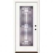 Feather River Doors Preston Patina Full Lite Primed Smooth Fiberglass Entry Door