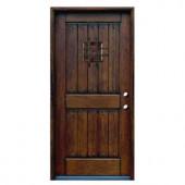 Main Door Rustic Mahogany Type Prefinished Distressed Solid Wood Speakeasy Entry Door