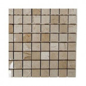 Splashback Tile Crema Marfil Squares Marble Floor and Wall Tile - 6 in. x 6 in. Tile Sample