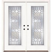 Feather River Doors Mission Pointe Zinc Full Lite Primed Smooth Fiberglass Double Entry Door