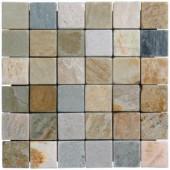 MS International 12 in. x 12 in. Horizon Tumbled Quartzite Mesh-Mounted Mosaic Tile