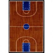 LA Rug Inc. Fun Time Basketball Court Multi Colored 39 in. x 58 in. Area Rug