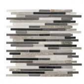 Jeffrey Court Zen Lace 13 in. x 11-3/4 in. Glass Stone Metal Mosaic Wall Tile