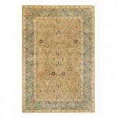 Home Decorators Collection Menton Gold and Blue 8 ft. x 11 ft. Area Rug
