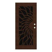 Unique Home Designs Sunfire 32 in. x 80 in. Copperclad Right-Hand Outswing Surface Mount Aluminum Security Door with Charcoal Insect Screen