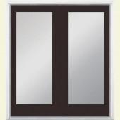Masonite 60 in. x 80 in. Willow Wood Steel Prehung Right-Hand Inswing 1 Lite Patio Door with No Brickmold in Vinyl Frame