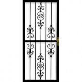 Grisham 309 Series Heritage 30 in. x 80 in. Steel Black Prehung Security Door