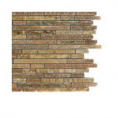 Splashback Tile Windsor Random Wood Onyx Marble Floor and Wall Tile - 6 in. x 6 in. Tile Sample
