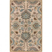 Home Decorators Collection Amanda Ivory Wool 8 ft. x 10 ft. Area Rug