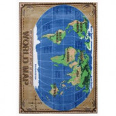 LA Rug Inc. Supreme World Map Multi Colored 5 ft. 3 in. x 7 ft. 6 in. Area Rug