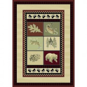 Smokey Mountain Beige 5 ft. 3 in. x 7 ft. 5 in. Area Rug