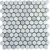 MS International 12 in. x 12 in. Grecian White Marble Mesh-Mounted Mosaic Tile