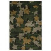 LA Rug Inc. Supreme, Camouflage, Multi Colored 39 in. x 58 in. Area Rug