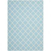 Safavieh Dhurries Light Blue/Ivory 6 ft. x 9 ft. Area Rug
