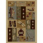 Tayse Rugs Nature Ivory 7 ft. 10 in. x 10 ft. 3 in. Lodge Area Rug