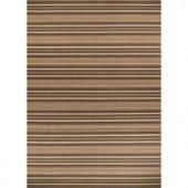 Hampton Bay Green and Brown Stripe 7 ft. 7 in. x 10 ft. 10 in. Indoor Outdoor Area Rug