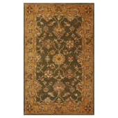 Kas Rugs Traditional Oushak Green/Gold 5 ft. x 8 ft. Area Rug