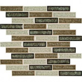 MS International Venetian Cafe 1 in. x 4 in Glass Mesh-Mounted Mosaic Wall Tile