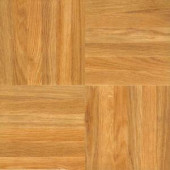 Deluxe Regal Wood 12 in. x 12 in. Laminated Vinyl Tile (30 sq. ft./case)