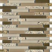 EPOCH Spectrum Desert Gold-1663 Granite And Glass Blend 12 in. x 12 in. Mesh Mounted Floor & Wall Tile (5 Sq. Ft./Case)
