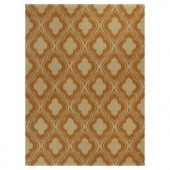Kas Rugs Palace Row Rust/Beige 6 ft. 6 in. x 9 ft. 6 in. Area Rug