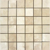 MS International 2 in. x 2 in. Ivory Travertine Mosaic Floor and Wall Tile