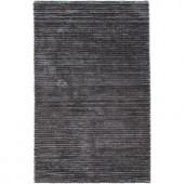 Chandra Ulrika Charcoal/Grey 7 ft. 9 in. x 10 ft. 6 in. Indoor Area Rug