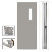L.I.F Industries 36 in. x 80 in. Vision Lite 520 Right-Hand Door Unit with Knockdown Frame