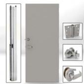 L.I.F Industries Steel Flush Security Door Unit w/ Knockdown Frame Left-Hand