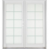 Ashworth Professional Series 72 in. x 80 in. White Aluminum/Wood French Patio Door