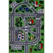 LA Rug Inc. Fun Time Streets Multi Colored 5 ft. 3 in. x 7 ft. 6 in. Area Rug