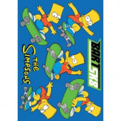 Fun Rugs The Simpsons Bart SK8 Blue 19 in. x 29 in. Accent Rug