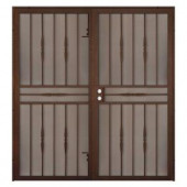 Unique Home Designs Cottage Rose 72 in. x 80 in. Copper Outswing Double Security Door