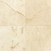 Daltile Natural Stone Collection Crema Marfil 12 in. x 12 in. Marble Floor and Wall Tile (10 sq. ft. / case)