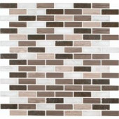 MS International Arctic Storm 12 in. x 12 in. Honed Marble Mesh-Mounted Mosaic Floor and Wall Tile