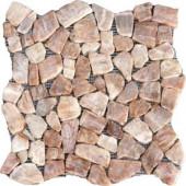 MS International Honey Onyx Flat Pebbles 16 In. x 16 In. Onyx Floor & Wall Tile (12.46 Sq. Ft.. per Case)