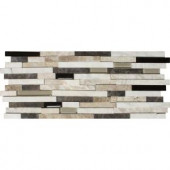 MS International Ashlar Rock Interlocking 8 in. x 18 in. x 8 mm Glass Stone Mosaic Wall Tile