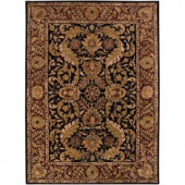 Artistic Weavers Ainsworth Black 8 ft. x 11 ft. Semi-Worsted New Zealand Wool Area Rug