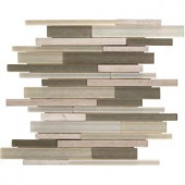 MS International Truffle Stone Interlocking 12 in. x 12 in. x 8 mm Glass Stone Mosaic Wall Tile