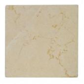 Jeffrey Court Light Travertine Tumbled 4 in. x 4 in. Floor/Wall Tile (1pk/9pcs-1 sq. ft.)
